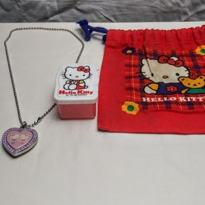Hello Kitty Locket & Box & Bag